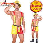 CA565 Sexy Hot Stuff Fireman Firefighter Fire Bucks Hens Mardi Gras Mens Costume