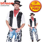 CA568 Ranch Hand Cowboy Wild West Sheriff Gunslinger Rodeo Fancy Dress Costume