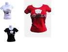 New Musa fashion stretch seamless rose flower short sleeve tops-black red white