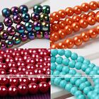 4/6/8/10mm Strand Multi Color Magnetic Hematite Round Loose Ball Beads DIY Charm