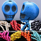 1Strand Colorful Choice Skull Head Howlite Turquoise Loose Spacer Beads Jewelry