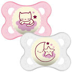 Baby Soother Dummy Pacifier Nipple Mam  0m+ 6m+ 12m+ Girl Boy Glow in Night