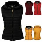Womens Body Warmer Ladies Gilet Quilted Padded Puffer Zip Sleeveless Jacket Top
