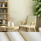 plain colored wallpaper - 10M Plain Bamboo Non-woven Straw Wallpaper Bedroom Solid Color Beige Strips DIY