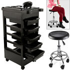 5 Layer Salon Hairdresser Barber Spa Beauty Storage Trolley & Manicure Bar Stool