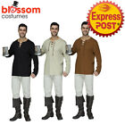AC296 Mens Peasant Shirt Top Oktoberfest Renaissance Medieval Pirate Costume