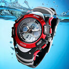 Child Boys Girls Sport Waterproof Analog Digital Alarm LED Quartz Wrist Watch US image