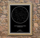 Personalised Star / Sky Night Map Oak Framed Poster Print - The Perfect Present!