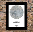Personalised Moon Star Night Map Black Framed Poster Prints - For Any Occasion!