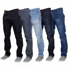 Mens Denim Jeans Crosshatch Woodel Bottoms Trousers Straight Leg Pants Casual