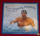 A is for Amazing Moments  A Sports Swimming Brad Herzog Michael Phelps HC/DJ