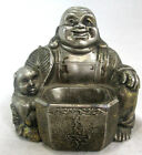 "Buddha and Baby Incense Burner Vintage JAPAN Metal Vintgae 2.75""tall 2.75""wide"