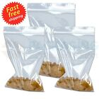 """Small Clear Clear Bags Plastic Baggies Grip Self Seal Resealable 2.25"""" x 2.25"""""""