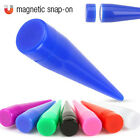 Acrylic Magnetic Snap-On Fake Tapers  No Piercing Required - Choose Colour