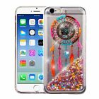 For iPhone 6 6s Plus Bling Hybrid Liquid Glitter Rubber Protective Case Cover