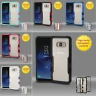 For Samsung Galaxy S8 Clear Tuff Hard TPU Hybrid Plastic Protector Case Cover
