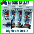 Fishing DIY Hairy Hooks Snapper Flasher True Blue 4/0 5/0 6/0 or 8/0 12-pack