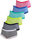 6er Pack Teen Girls Panty stylish gemustert Farbmix Stretch Baumwolle Spitze