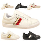 WOMENS LADIES CONTRAST PANEL SPORTS SKATER TRAINERS  STUDDED SIZE SHOE SNEAKERS
