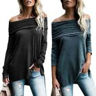 Women Casual Long Sleeve Shirt Round Neck Tunic Tops Pullover Sweatshirts Blouse