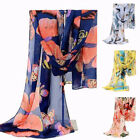 Colorful Women Ladies Long Butterfly Print Pattern Shawl Scarf Wrap Stole New