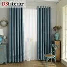 shading modern style solid color faux plain linen Blackout curtain for living ro