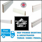MDF SKIRTING BOARD 4.4M LENGTHS WHITE PRIMED & ARCHITRAVE TORUS OGEE PENCIL