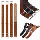 18/20/22mm Replacement Leather Watch Band Wrist Strap w/ Stainless Steel Buckle