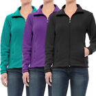 Women's Fleece Jacket Full Zip Collar Lightweight Soft Warm Thermal Winter Coat