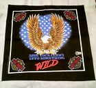 "Harley Dvidson SCARF 22"" square ""Sink Your Claws Into Something Wild"""