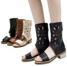Shoes Large Size Hollow Synthetic Leather Open Toe Sandal Boots UK 00-13