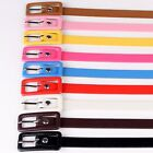 Vintage Unbranded Womens New Skinny Candy Color Thin Buckle Waist Belt
