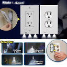 20 Pcs Power Glow Wall Outlet Plate 3 LED Night Light On/Off Switch White Duplex