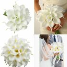10/20x Artificial Calla Lily Wedding Bridal Bouquet Fake Flowers DIY Home Decor