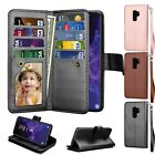 For Samsung S9 Plus Magnetic Card Leather Wallet Flip Stand Phone Case Cover