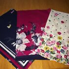 JOULES Neckerchief / Scarf Dark Posy / Cream Ditsy & Navy Dog  Designs FreeUKP&P