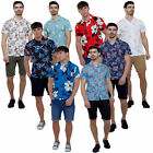 Mens All Over Print Casual Short Sleeve Shirt Summer Collection By Brave Soul