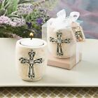 6 Cross Tea Light Candle Holder-Baptisms Christenings Confirmation Favours Gifts