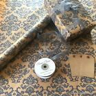 Kraft Brown Wrapping Paper Grey Baroque 2 / 5 / 10 metres optional ribbon & tags