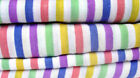 Thermal Flannelette Sheet Set Fitted Flat Pillowcase Candy Stripe Bedding Set