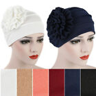 Women Cotton Flower Hat Cancer Chemo Beanie Baggy Cap Turban Hijab Solid Color