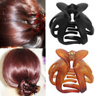 Simple Women Octopus Claw Hair Clip Hairpin Heart Shape Handle Curved Design