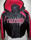 ATLANTA FALCONS Winter Jacket Parka Fleece Lining BLACK/RED  Medium, Large on eBay