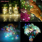 US Light Christmas Lamp 20M 200 LED Waterproof Solar String Copper Wire Fairy
