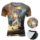 Blouse T-shirt Casual Tops Mens Slim Fit O Neck Short Sleeve Printed Tee Q1900