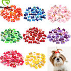 dog hair coloring products - 10PCS Pet Dog Cat Hair Bows Rhinestone&Flower Hair Bows Dog Grooming Product