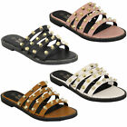 Ladies Sandals Slip On Studs Slipper Open Toe Fashion Casual Summer Holiday New