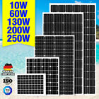 12V 250W 200W 100W 60W 10W Solar Panel Kit MONO Caravan Camping Power Charging