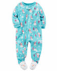 NWT ☀FOOTED FLEECE☀ CARTERS Girls Pajamas SNOWMAN New YOU PICK   18m    24m