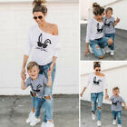 Family Matching Outfits T-shirt MOTHER SON Women and Baby's Rabbit Tee Tops